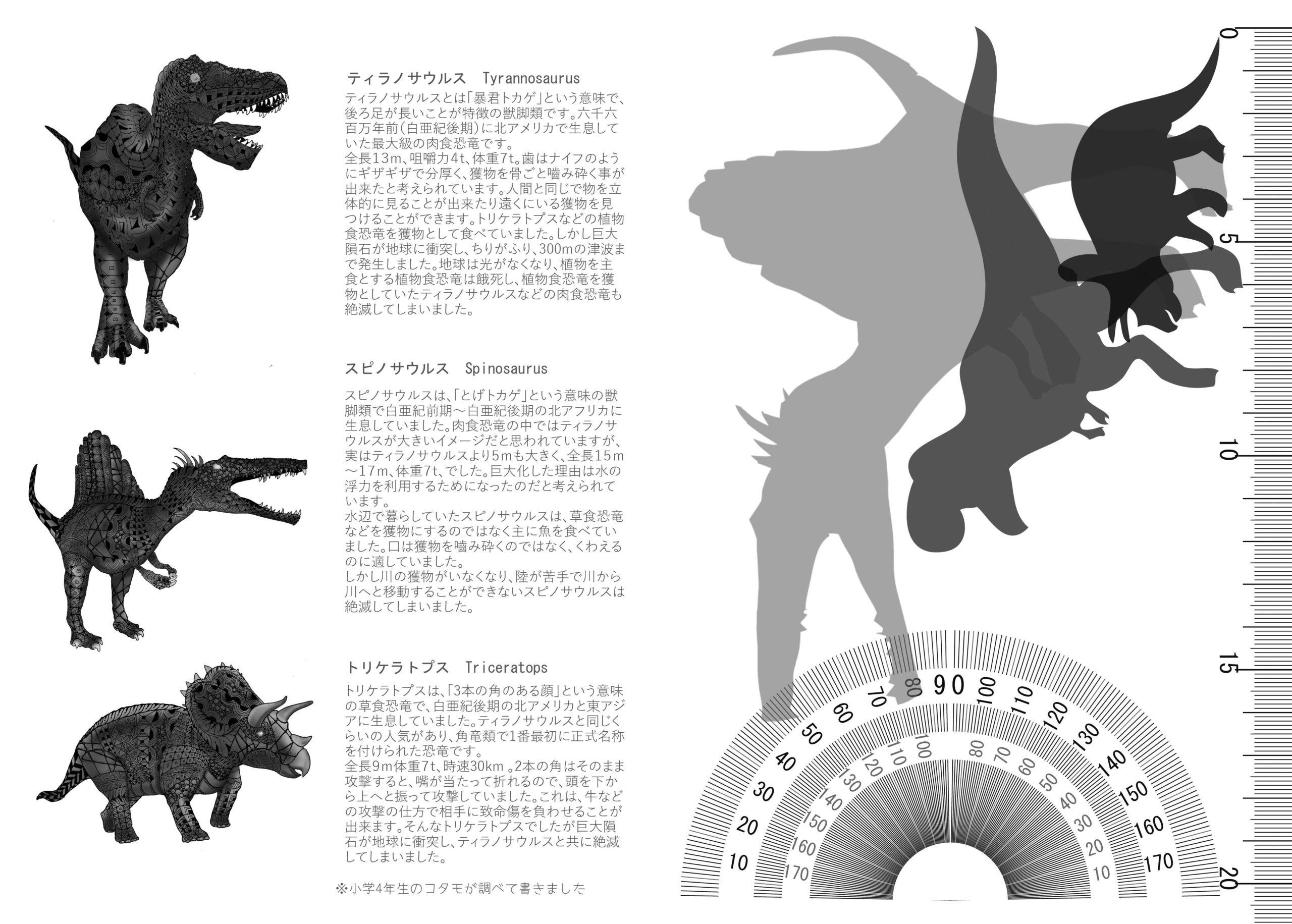 恐竜ノートの中