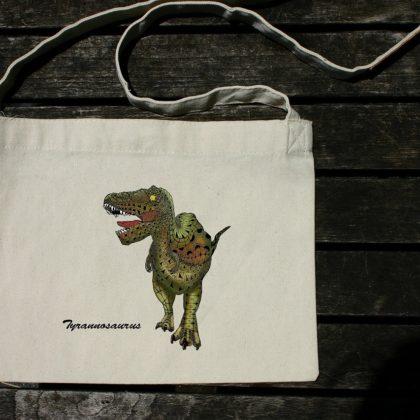 斜め掛けバッグ(サコッシュ) ティラノサウルス 超リアルカラー