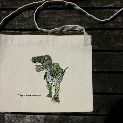 斜め掛けバッグ(サコッシュ) ティラノサウルス グリーン