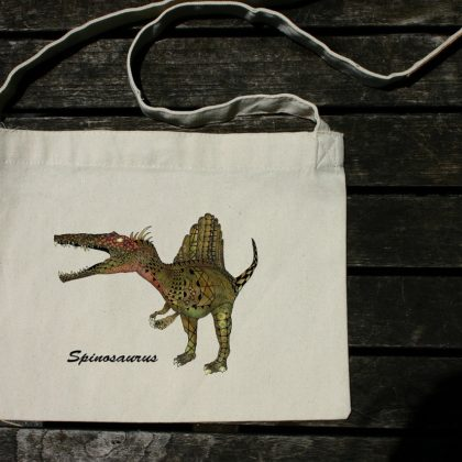 斜め掛けバッグ(サコッシュ) スピノサウルス 超リアルカラー
