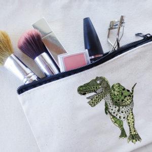 恐竜ポーチ ティラノサウルス グリーン