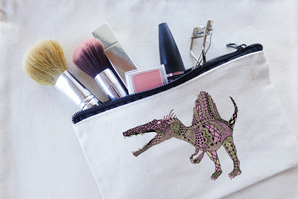 ポーチ スピノサウルス ピンク