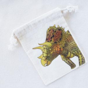 恐竜 トリケラトプスの巾着