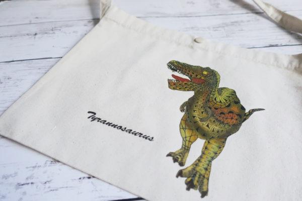 斜め掛けバッグ(サコッシュ) 恐竜デザイン タモコタモ
