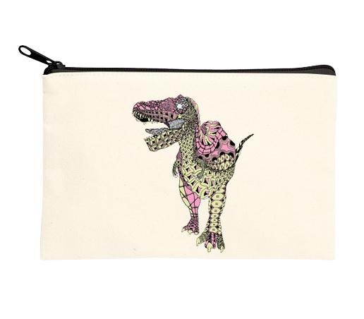 恐竜ポーチ ティラノサウルス ピンク