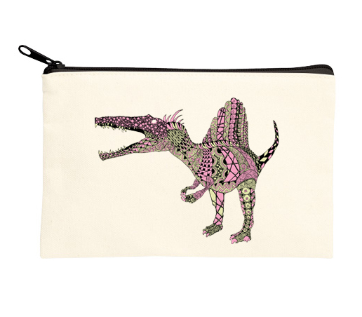恐竜ポーチ スピノサウルス ピンク