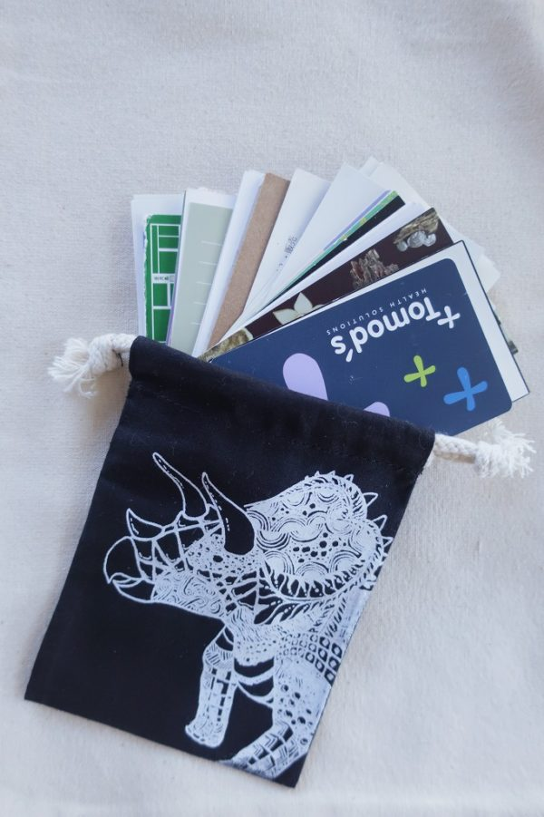 トリケラトプス 恐竜巾着袋