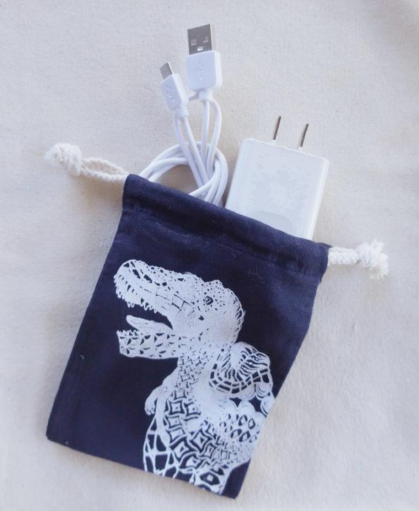 ティラノサウルス 恐竜巾着袋