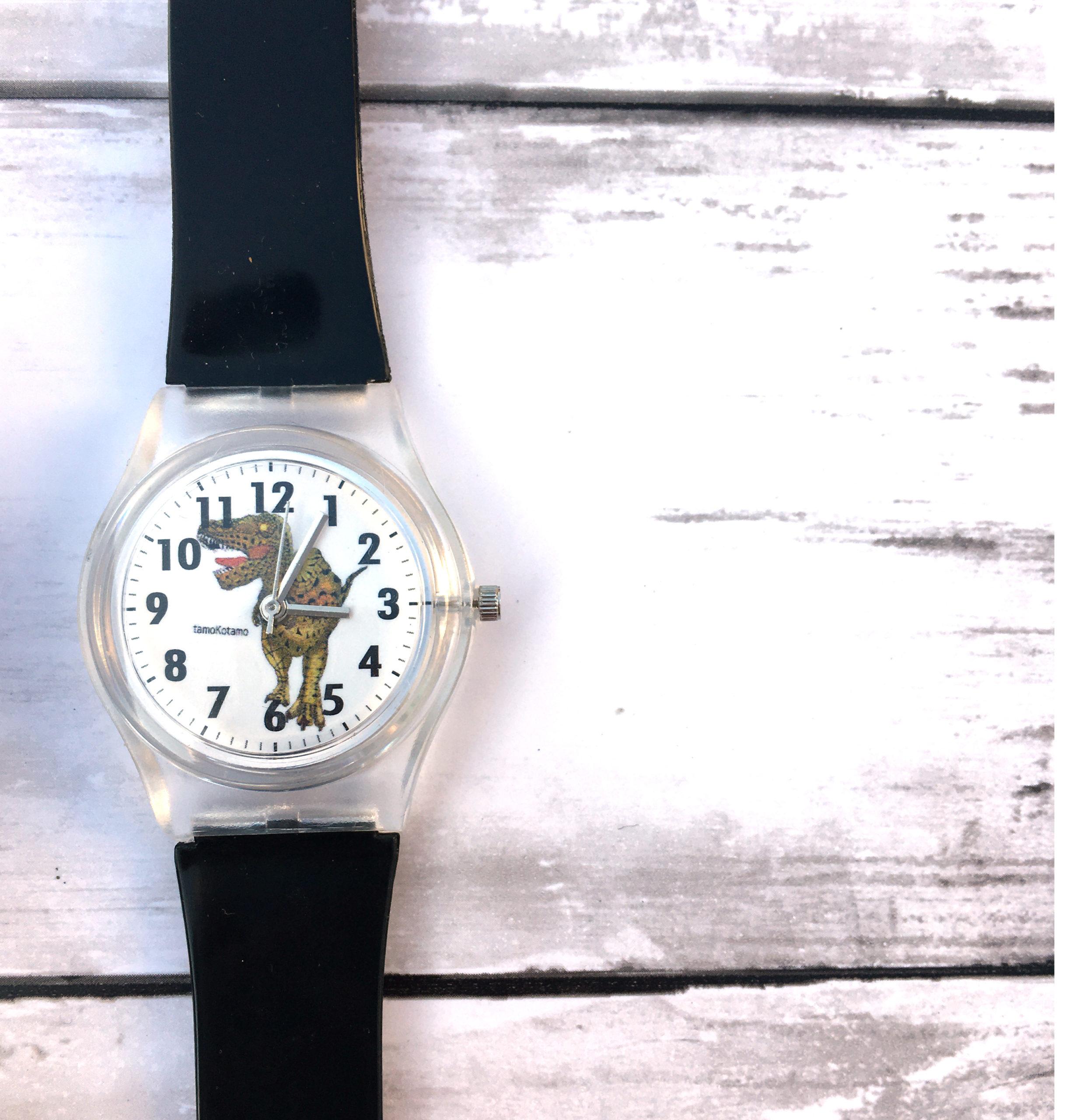 恐竜腕時計 ティラノサウルス リアルカラー(黒ベルト)