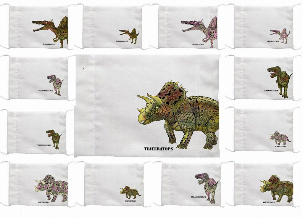 恐竜マスク アベノマスクのアイデアで手作りマスク