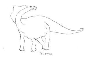 コタモが初めて描いた恐竜 アマルガサウルス