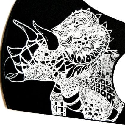 恐竜デザインマスク 超迫力トリケラトプス(秋冬用)