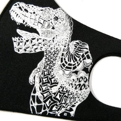 【キッズ】恐竜デザインマスク 超迫力ティラノサウルス