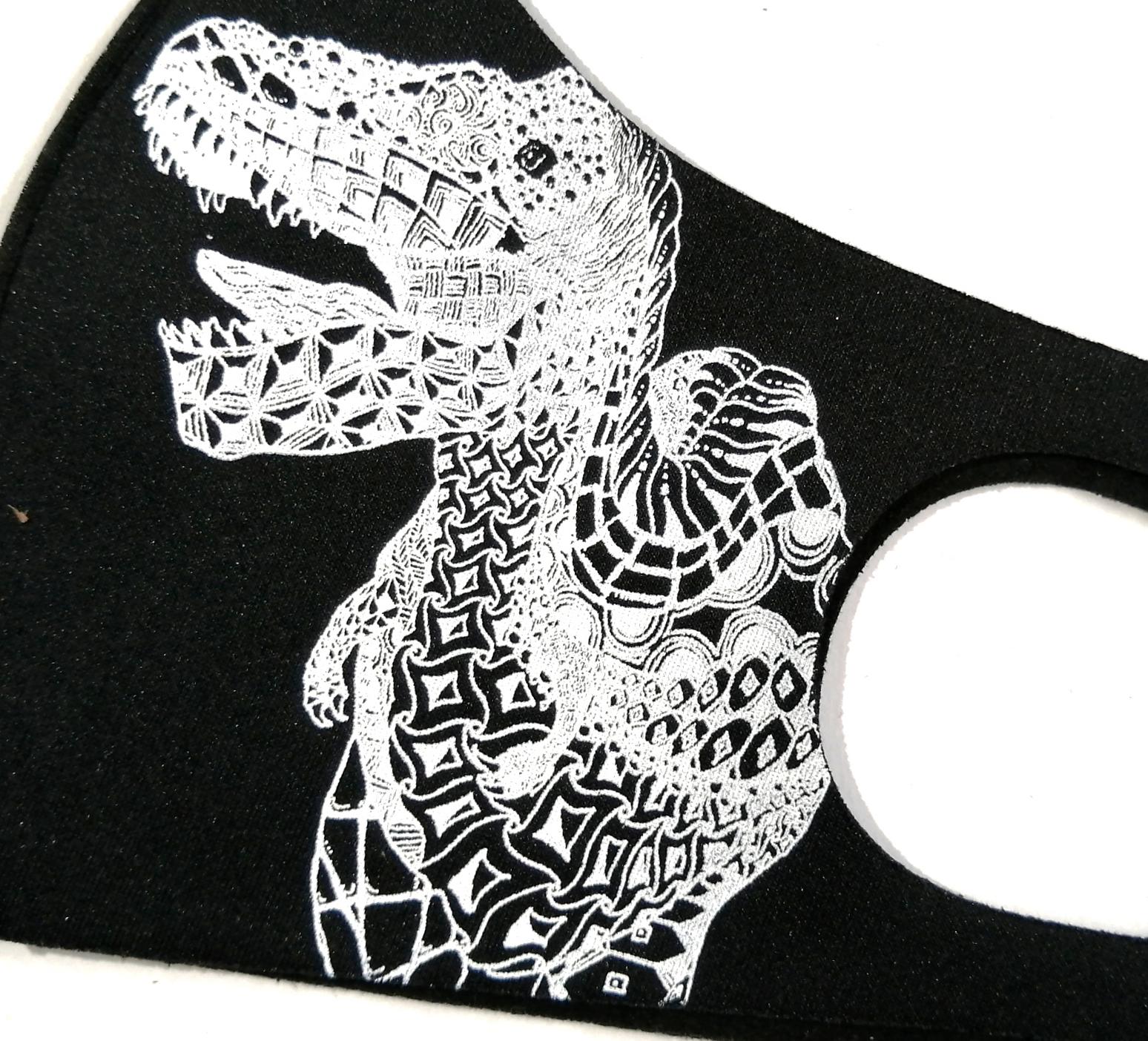 恐竜マスク 秋冬用 あったかマスク