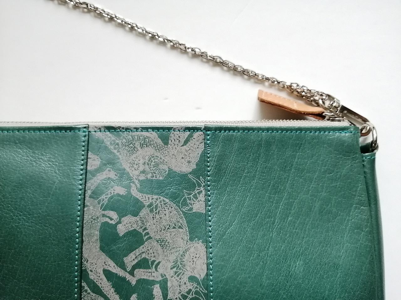 恐竜デザイン タモコタモ本革ハンドバッグ