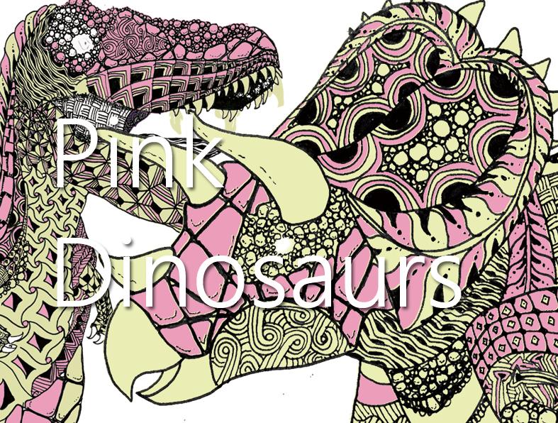 恐竜デザイン タモコタモのピンク恐竜