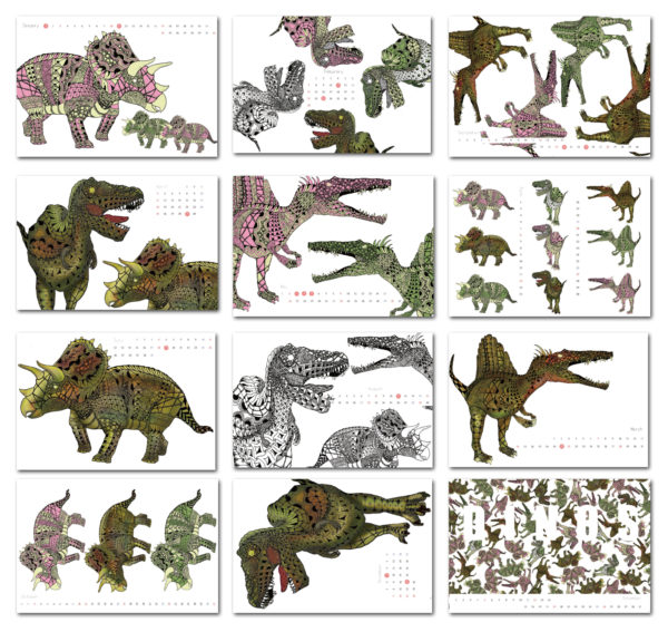 恐竜カレンダー2021