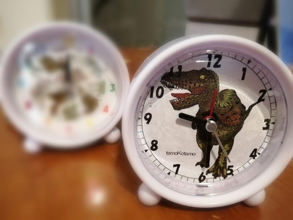 恐竜目覚し時計